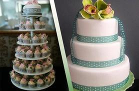 £149 for 100 wedding cupcakes on a tiered stand, £169 for a 3-tier wedding cake from Vanilla Nova, Southport - save up to 50%