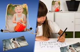 £12.99 instead of £30.98 (from Great Photo Gifts) for a personalised pencil case and drawstring bundle - save 58%