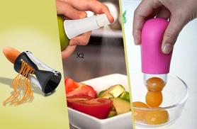 £11 instead of £44.97 (from Mooch) for a 4-piece kitchen bundle including veggie twister, yolk separator and 2 citrus spritzers - save 76%