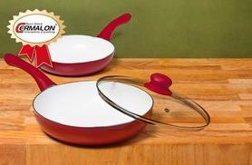 £19.99 instead of £49.99 for a set of 24cm & 20cm ceramic pans in a choice of 4 colours from Wowcher Direct - save 60%