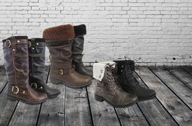£10 (from Urshu) for a pair of ladies' winter boots worth £30, £13 for a pair worth £40 - save up to 67%