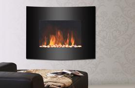 £59 for a stylish flame-effect wood burning fireplace, or £79 for a wall-mounted glass fire from Wowcher Direct