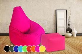 £29.99 instead of £99 (from UK Beanbags) for a highback beanbag with a matching footstool - choose from 9 colours and save 70%