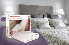 £15.99 instead of £23 for a Morphy Richards double heated electric underblanket from Wowcher Direct - save 30%
