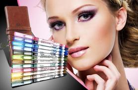 £6 instead of £49.99 (from Quick Style) for a 12 glitter eye pencils, £10 inc. 88-colour palette - save up to 88%