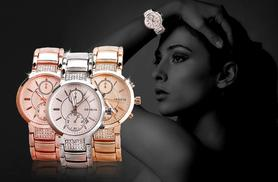 £12 instead of £69 (from Rocks of London) for a luxury Geneva watch in a choice of 3 colours - save 83%