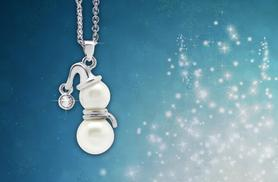 £9 instead of £40 (from Viva Jewellery) for a freshwater pearl snowman necklace - save 78%