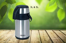 £14.99 (from Zoozio) for a 3-litre stainless steel airpot drinks flask, or £19.99 for a 5 litre flask - save up to 32%