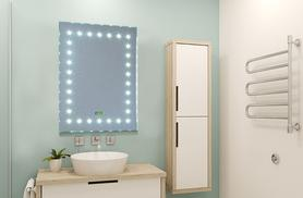 £74.99 instead of £149.99 (from Kings Bathrooms) for a Luminoso LED sensor mirror with in-built digital clock - pick from two fab designs and save 50%