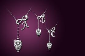 £9 instead of £50 (from Cian Jewels) for an owl infinity necklace with an initial charm, or £16 for 2 necklaces - save up to 82%