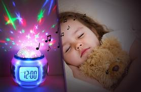 £7.99 instead of £39.99 (from Rock-a-by Baby) for a 2-in-1 LED musical starlight projector and alarm clock - save 80%