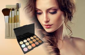 £5 instead of £29.99 (from Quick Style) for a facial contouring palette, or £10 with 5 bamboo eye makeup brushes & travel case - save up to 83%