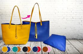 £19.99 instead of £40 (from A-SHU) for a 2-piece reversible faux leather tote bag set - save 50%