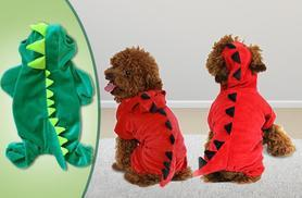 £7.99 instead of £19.99 (from Planet of Accessories) for a dinosaur onesie for your pet, £13.99 for two onesies - save up to 60%