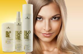 £7.99 instead of £39.99 (from Look 'N' Style) for a three-piece Schwarzkopf Blondme haircare set - save 80%