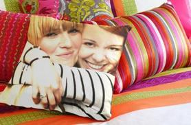 From £8 (from Dip Into Sales) for a personalised photo cushion - choose from 3 sizes & save up to 60%