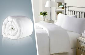 From £8.99 for a 13.5 tog anti-allergenic hollowfibre duvet, from £9.99 for a 15 tog duvet - pick single, double or king & save up to 67%