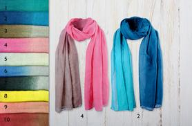 £6 instead of £20 (from Alvi's Fashion) for an ombre scarf, or £10 for 2 scarves - keep the chill out and save up to 70%