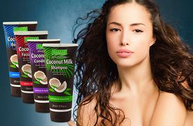 £7.99 instead of £29.99 (From Eden Organic Care) for a 4-piece coconut milk hair and beauty set - go nuts and save 73%