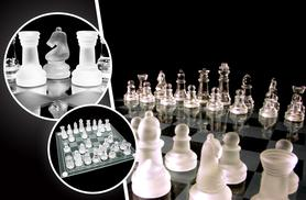 £7.99 instead of £24.99 (from London Exchainstore) for a 32-piece glass chess set and board - save 68%