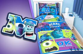 £9 instead of £39.99 for a Monsters University bedding set with one cushion from Wowcher Direct - save up to 77%