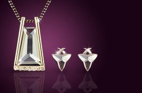 £12 instead of £89 (from Alvi's Fashion) for a crystal pyramid duo set made with Swarovski Elements inc. a necklace & earrings - save 87%