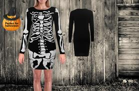 £6.99 instead of £19.99 (from Something About Fashion) for a black skeleton costume – choose a leotard or dress and save 65%