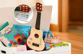 £12 (from Sue Ryder) for a paint-your-own ukulele kit (includes the ukelele)