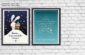 £6 (from Prints With Feelings) for an A4 seasonal poster, £9 for an A3 poster or £11.99 for an A4 poster with frame - save up to 67%