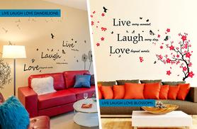 £13.98 instead of £29.99 for two inspirational wall quote stickers from Wowcher Direct - save 53% + DELIVERY INCLUDED
