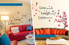 £13.98 instead of £29.99 for a duo pack of inspirational wall quote stickers from Wowcher Direct - save 53% + DELIVERY INCLUDED