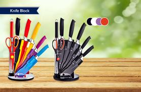 £24 instead £120 for an eight-piece stainless steel kitchen utensil set and rotating acrylic block from Wowcher Direct - save 80% + DELIVERY INCLUDED!