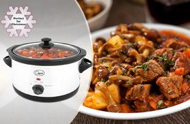 £22.99 instead of £49.99 for a 5.5 litre slow cooker from Wowcher Direct - take it slow this winter & save 54%