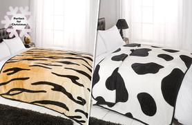 From £7.99 for a faux fur animal print throw from Wowcher Direct - save up to 61%