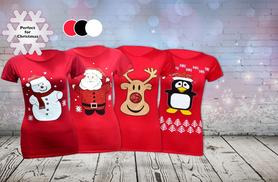 £4.99 instead of £19.99 (from Top Notch Fashion) for a ladies' Christmas t-shirt, £9.99 for two - save up to 75%