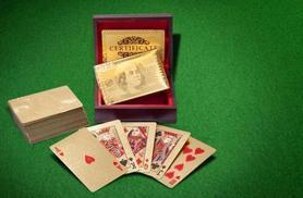 £9.99 instead of £39.99 (from London Exchainstore) for a pack of 24k gold-plated playing cards - come up trumps and save 75%