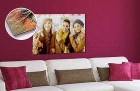 "£8.99 for a 12"" x 8"" personalised aluminium print, £13.99 for 18"" x 12"" or £19.99 for 24"" x 16"" - save up to 78%"