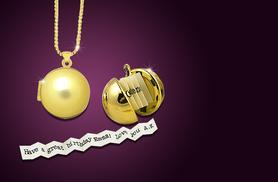 £9 instead of £60 (from Cian Jewels) for a personalised 'secret note' ball necklace - save 85%