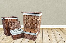 £25 instead of £47.90 (from Kings Bathrooms) for a set of four matching wicker storage and laundry baskets in brown or black – save 48%