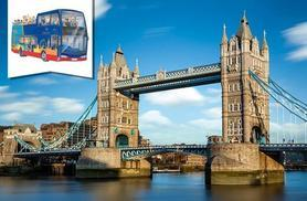 £9.50 instead of £19 for a London Panorama 3-hour open top bus tour from Golden Tours - see London's iconic sights and save 50%