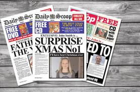 £4.99 (from Scooped!) for a personalised spoof newspaper, £8.99 for two or £12.99 for three - read all about it and save up to 50%