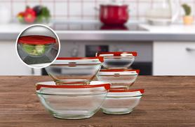 £4.99 instead of £17 (from Cost Mad) for a set of 5 stackable glass storage bowls with lids - save 71%