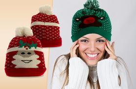 £5.99 instead of £19.99 (from iKrush) for a Christmas-themed pom pom hat - save 70%