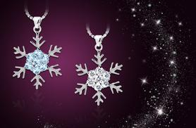 £8 instead of £40 (from Cian Jewels) for a kids' snowflake necklace made with Swarovski Elements with a choice of white or aqua crystals - save 80%