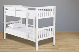 £199 instead of £349.99 (from FTA Furnishing) for a wooden bunk bed frame, or £349 for a frame and 2 reflex foam mattresses - save up to 43%