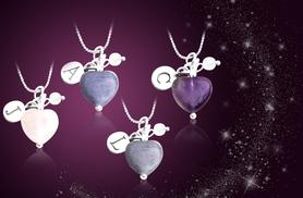 £10 instead of £45 (from Cian Jewels) for a personalised heart-shaped semi-precious stone necklace - save 78%