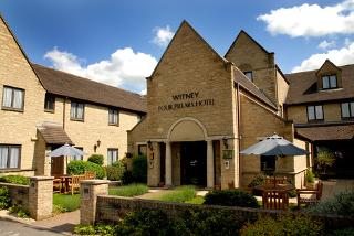 From £99 (at Oxford Witney Hotel) for a 4* overnight break for two people, including a three-course dinner, bottle of wine spa access and breakfast - save up to 40%