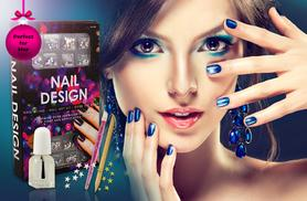 £7 instead of £16 (from SalonBoxed) for a nail art kit inc. 300 decorative gems, top coat, manicure stick and more - treat your talons and save 56%