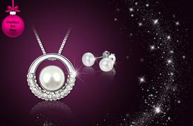 £12 instead of £79 (from Your Ideal Gift) for a white gold plated pearl pendant and earring set – save 85%