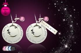 £10 instead of £50 (from Cian Jewels) for an 'I Love You to the Moon and Back' necklace, or £12 with a personal engraving - save up to 80%